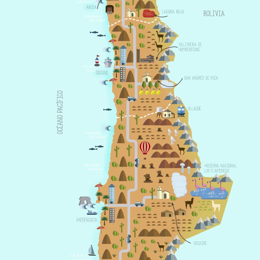 Principales Hitos turísticos de Chile